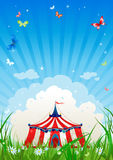Travelling circus. With space for text Royalty Free Stock Photography