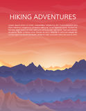 Travelling, climbing or extreme sports banner. Mountaineering and travelling, hiking adventure concept. Climbing, trekking, outdoor vacation or extreme sports Stock Photography