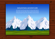 Travelling, climbing or outdoor vacation banner. Stock Photography