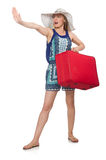 Travelling concept with person Royalty Free Stock Photo
