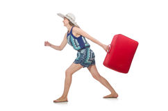 Travelling concept with person Stock Photography