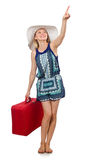 Travelling concept with person. And luggage Royalty Free Stock Image