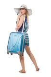 Travelling concept with person Royalty Free Stock Images