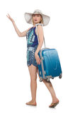 Travelling concept with person Royalty Free Stock Photos