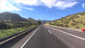 Travelling at a country side in Chile. Travelling by car at a country side in Santiago, Chile stock footage