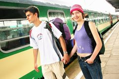Travelling couple Royalty Free Stock Photography
