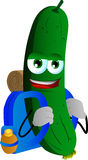 Travelling cucumber or pickle Royalty Free Stock Photos