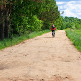 Travelling cyclist Royalty Free Stock Photography