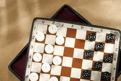 Travelling draughts Royalty Free Stock Image