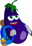 Travelling eggplant Stock Photography