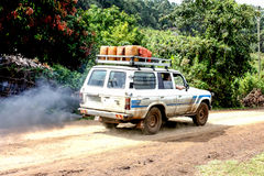 Travelling Ethiopia. Tourists travelling in Southern Ethiopia Royalty Free Stock Images