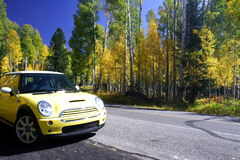 Travelling in fall color Flagstaff Arizona Stock Photography