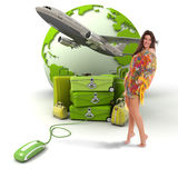 Travelling girl Stock Image