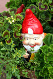 Travelling gnome / garden doll. Cute travelling gnome / garden doll stock photo