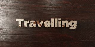 Travelling - grungy wooden headline on Maple  - 3D rendered royalty free stock image Royalty Free Stock Photography