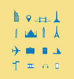 Travelling icon. And landmark collection Royalty Free Stock Images