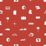 Travelling icons pattern eps10. Red travelling icons pattern eps10 Royalty Free Stock Photos