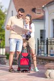 Travelling Ideas and Concepts. Young Positive Caucasian Couple Traveling Royalty Free Stock Images