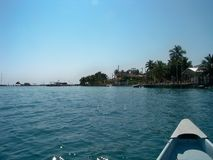 Travelling inland. Off the coast of caye caulker Royalty Free Stock Images
