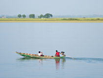 Travelling on the Kaladan River Royalty Free Stock Image