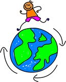 Travelling kid Stock Image