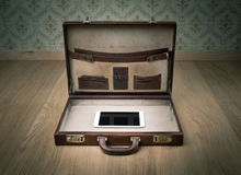 Travelling light only with tablet Royalty Free Stock Photos