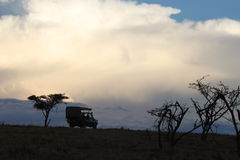 Travelling on the massi mara. Out on the massi mara on safari late at night Stock Photography
