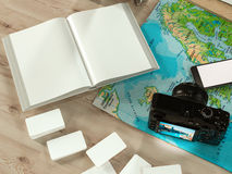 Travelling mockup business template. Royalty Free Stock Photography