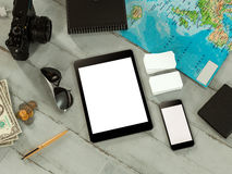 Travelling mockup business template. Royalty Free Stock Photo