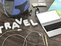 Travelling mockup business template. Royalty Free Stock Image