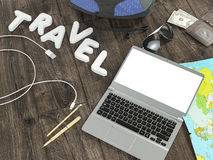 Travelling mockup business template. Stock Photos