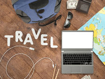Travelling mockup business template. Royalty Free Stock Photos