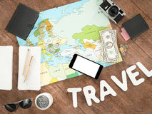 Travelling mockup business template. Stock Image