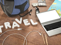 Travelling mockup business template. Stock Photography