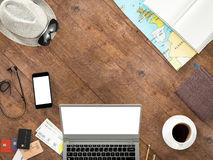 Travelling mockup business template. Royalty Free Stock Images