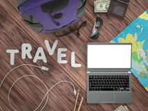 Travelling mockup business template. Stock Images
