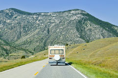 Travelling in Montana Stock Image