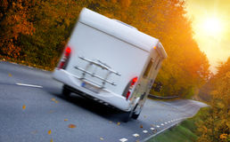 Travelling with a motor home Royalty Free Stock Image