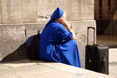 Travelling nun Royalty Free Stock Photo