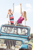 Travelling by off-road vehicle Stock Photo