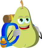 Travelling pear Royalty Free Stock Photos