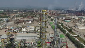 Travelling of the refinery installations. Travelling of the refinery installation stock video