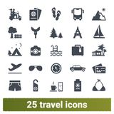 Travelling, Road Trip, Summer Holidays Icons Collection vector illustration
