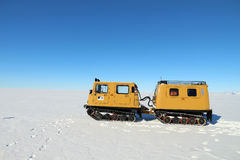 Travelling on the Ross ice shelf in Antarctica Stock Images