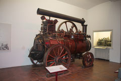 Travelling steam locomobile in The Deutsches Museum. Munich. Germany. Stock Photography