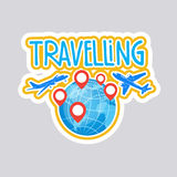 Travelling Sticker Social Media Network Message Badges Design Royalty Free Stock Photography