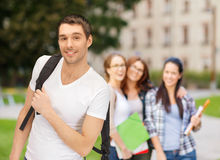 Travelling student with backpack Stock Photography