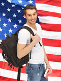 Travelling student Royalty Free Stock Images