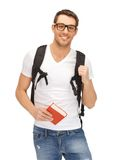 Travelling student Royalty Free Stock Image