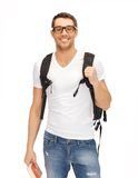 Travelling student Stock Image